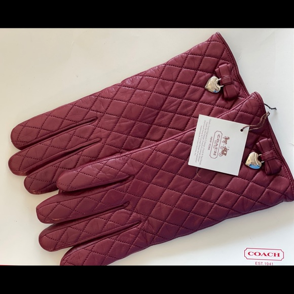 Coach Bow Glove - Brand New with Tags!